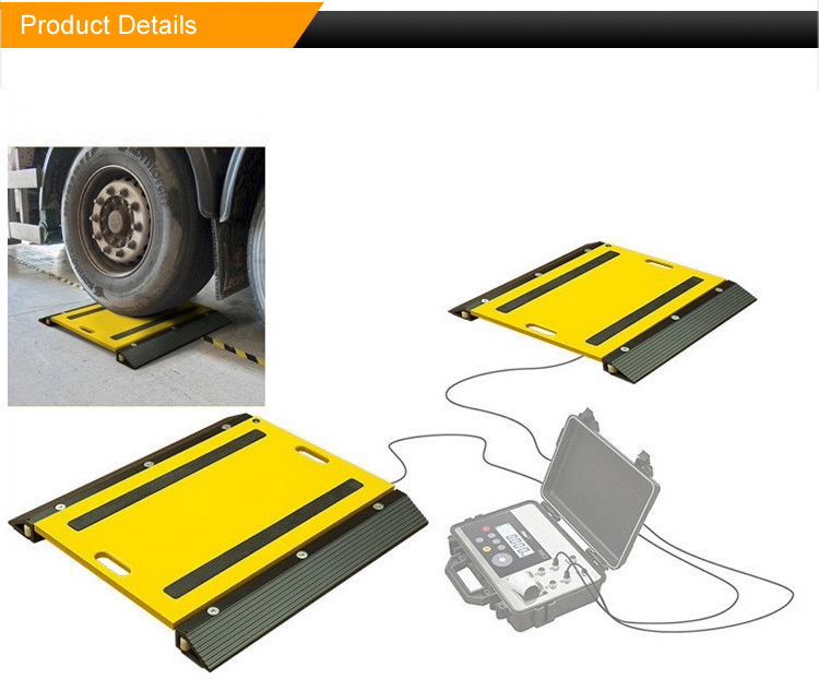 Good Quality Truck Axle Weight Pad,Portable Wheel Scale