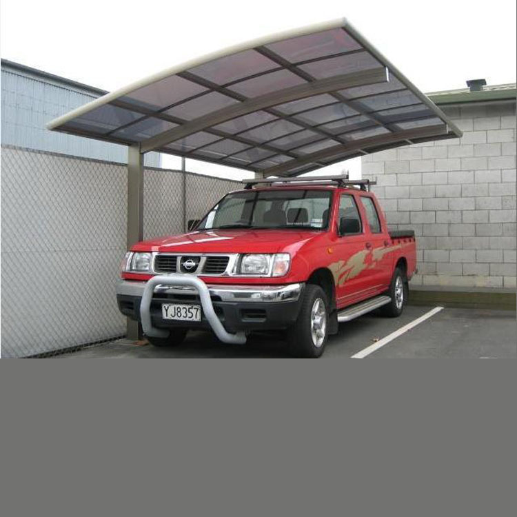 Portable modern outdoor aluminum frame cantilever carport/ polycarbonate roof cantilever car garages