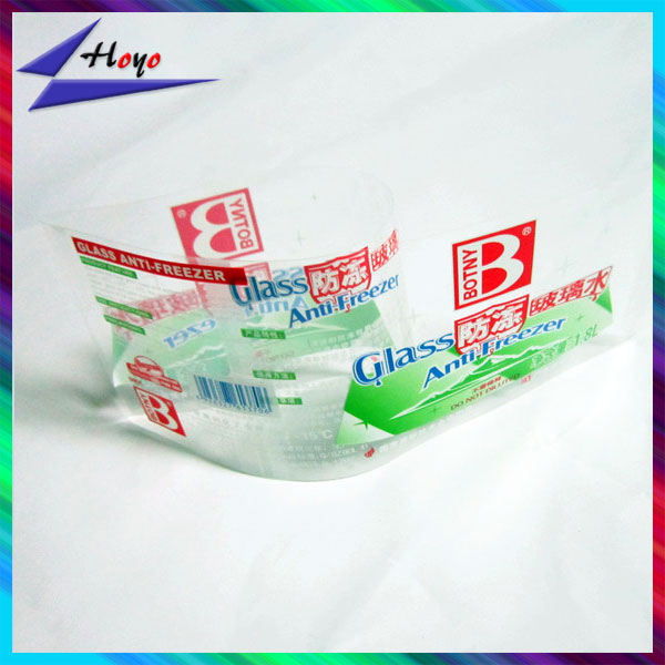 custom printed flexible packaging film for water bottle wrapping