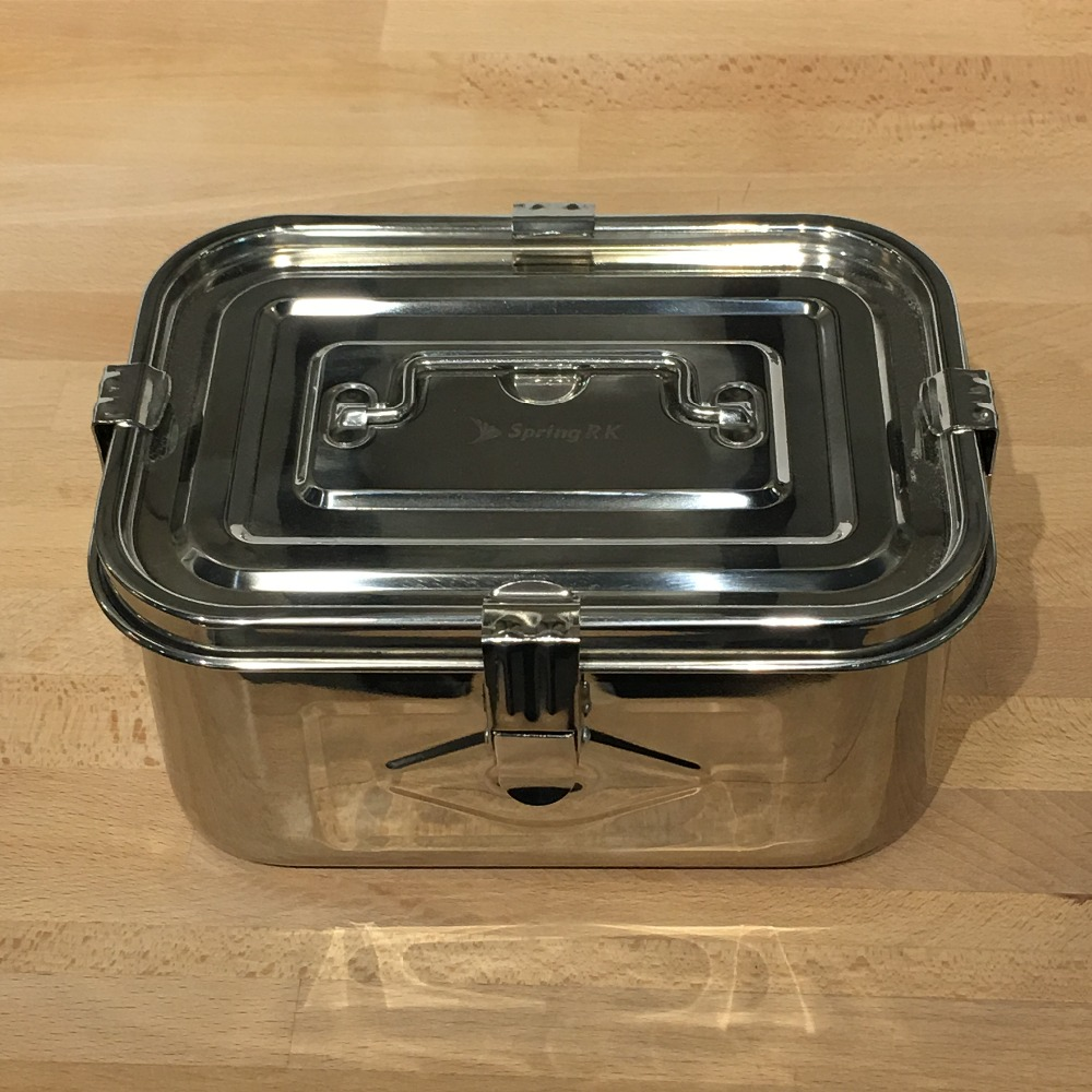 LFGB Food grade multi-function rectangular stainless steel bento lunch box with lock