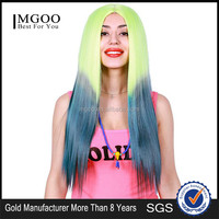 MGOO Low MOQ Synthetic Women Long Natural Straight Hair Lace Front Halloween Cosplay Costume Wig