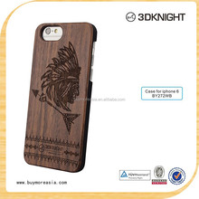 Wholesale Laser Pattern OEM LOGO Wood Phone Case For Iphone 6s Blank DIY Wooden Bamboo Cover