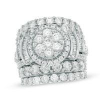 Enchanted Treasure 14K White Gold Diamond Cut Chart Tanzanite Jewelry Lab Created Diamonds Rings