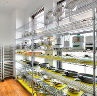 12L- Industrial Used Galvanized Chrome Metal Shelving for Kitchen