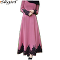 fashion custom middle east clothing oem floral lace detail adult Arab dresses