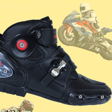 BH-147Bt-4 China Cheap China Black Brand Sport 40 45 Short Casual Riding Cheap Ladies Leather Motorbike Shoes