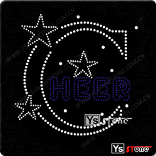 Wholesale latest design beautiful rhinestone all star cheerleader