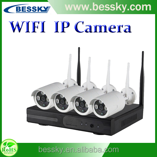 shenzhen Home Security 4 Channel CCTV NVR KIT 720P Wired IP Camera System