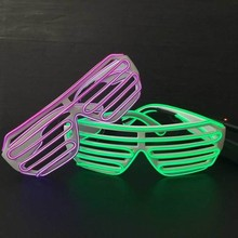 High Quality Customized Sound Activated El Wire Shutter Led Party Glasses