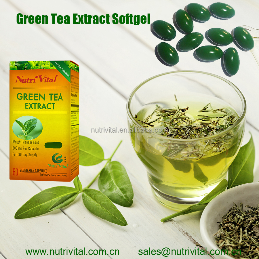 Green tea extract softgel