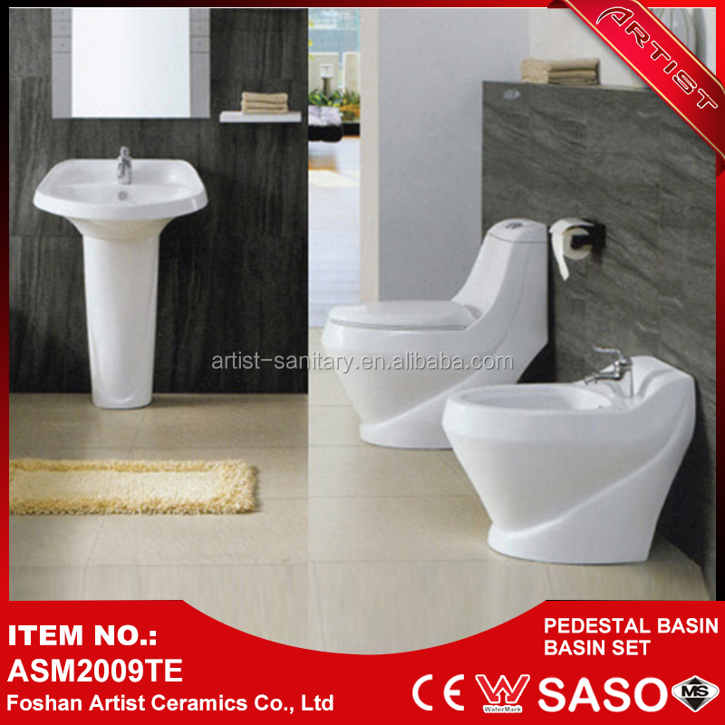 China Product High Quality Sanitary Ware Toilet Basin Combination