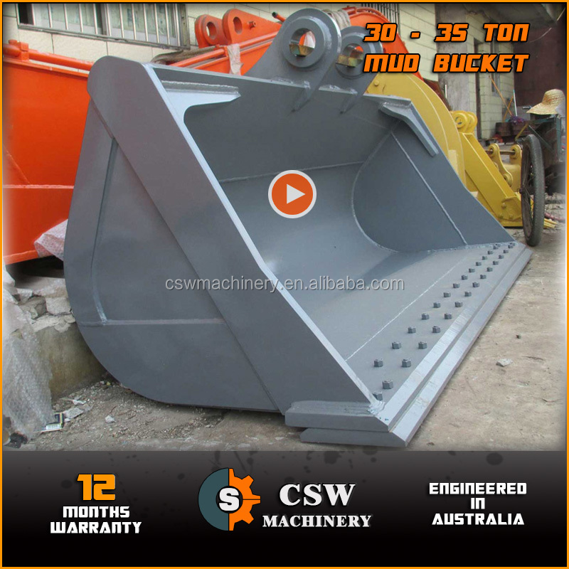 SK330 excavator mud bucket ditching bucket cleaning bucket 2400mm width also fit Komatsu Hitachi Caterpillar Kato Volvo 30 - 35T