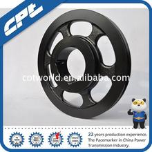 Low price dual channel cast iron industrial pulley wheel With Different Size