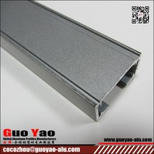 6063 T5 Natural Aluminum Anodizing Profile From GuoYao Aluminum Supplier