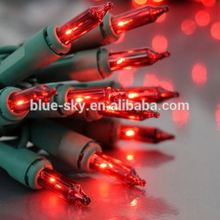 Red Christmas Light Green Cable Mini Led String Light for Holiday Decoration