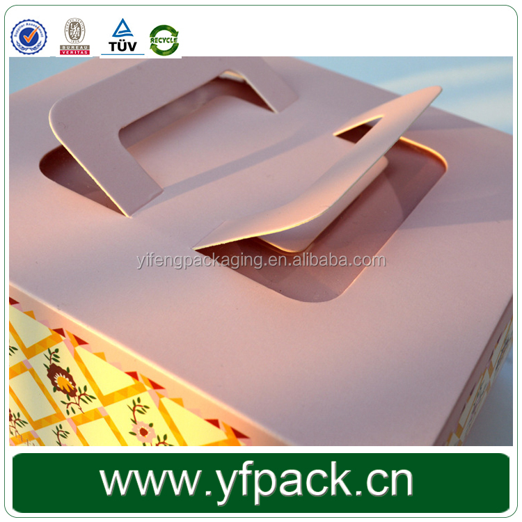 Cake Cardboard Paper Packaging Boxes Samll Gift Boxes for Cupcake/Cakes Folding Cardboard Luxury Gift Box