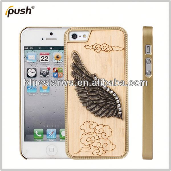 2014 New Arrival Fashion stylish excellent pc cell phone cases for iphone5 wood grain case for iphone 5