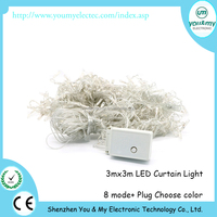 3x3M 300 LED Flashing Light Strips Curtain Light For Holiday