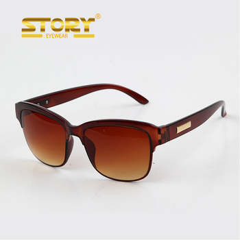 STORY Supermarket Laser Own Logo Metal Plate injection acrylic molded sunglasses