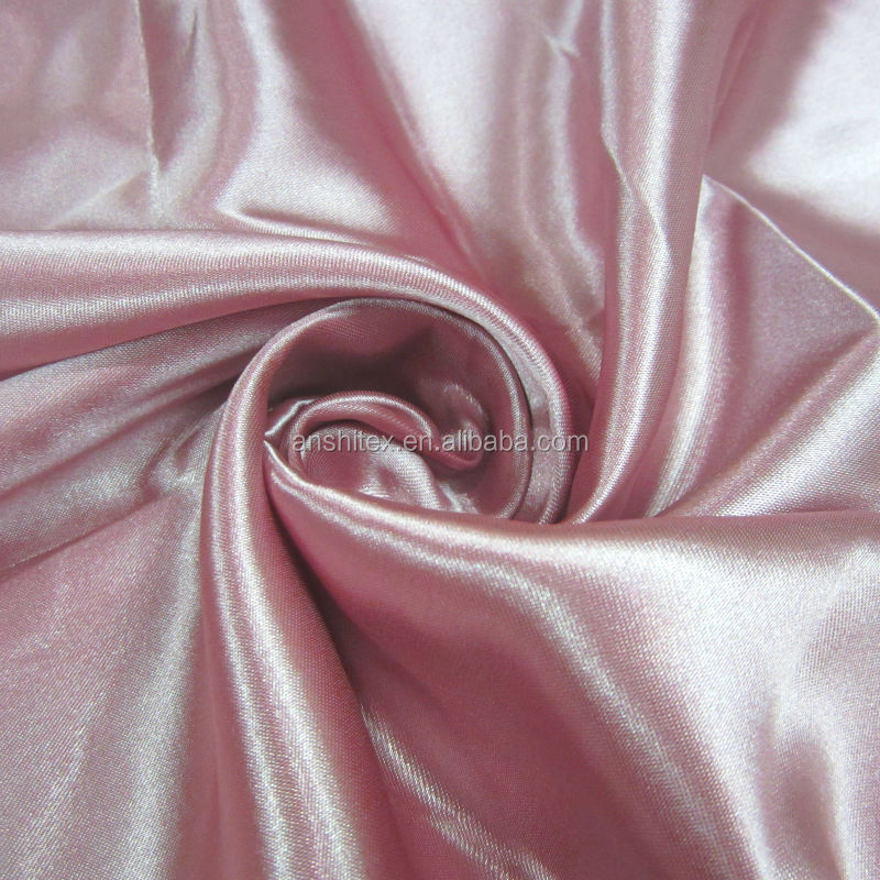 100% Polyester Back crepe satin fabric for luxury drapes curtains / models of valances curtain /wholesale wedding chair covers