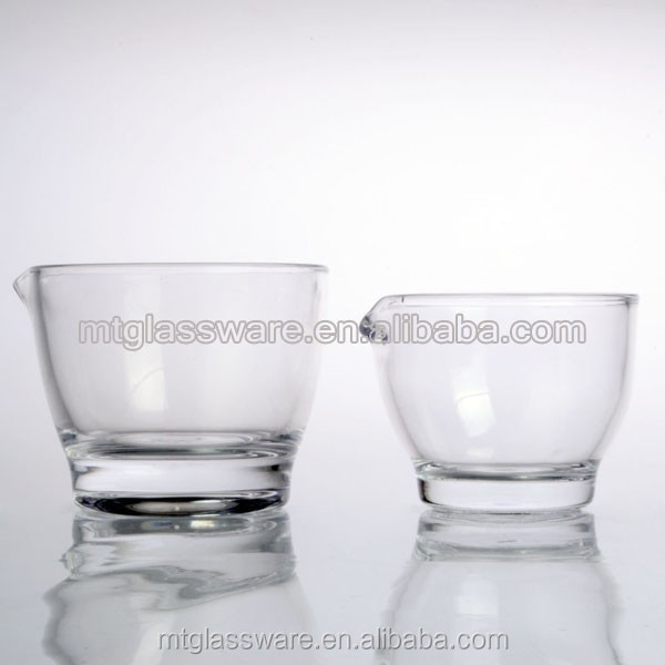 Glass server Set of 2pc Bowl For Salad or Sauce or Garvy