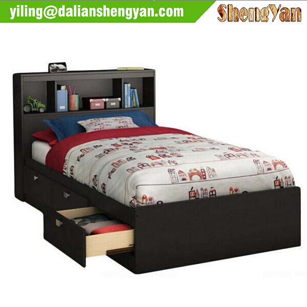 Single Bed with Pull Out Storage Drawers