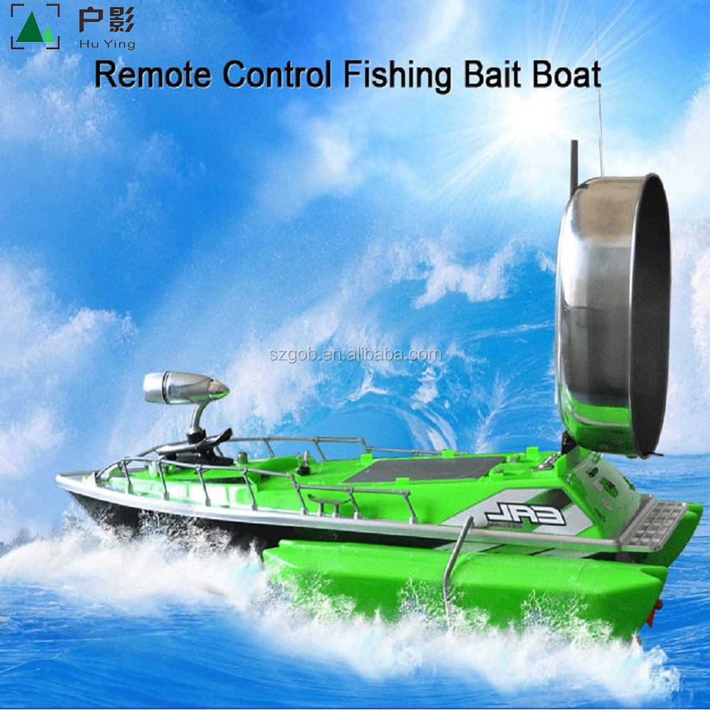 Factory Supply Fish Finder 2kg Bait Loading 2pcs Tanks with Night LED 100M Remote Control Sea Fishing Bait Boat with Casting