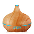 Wood grain 300ml Ultrasonic humidifier aroma essential oil diffuser cool mist humidifier for home/office with led lights