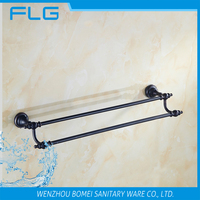 Household Hotel Bathroom Accessories Wall Mounted ORB Brass Towel Bar BM5468 Double Towel Bar Oil Rubbed Bronze