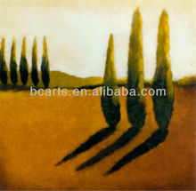 BC13-1625 Memories of Tuscany Landscape Trees and Shadow Oil Paintings