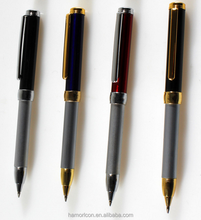 telescopic stretch out and draw back metal ball pens with logo