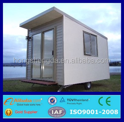 prefabricated mobile movable portable tiny house on wheels
