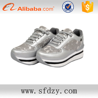 Cheap wholesale ladies shoes fashion PU waterproof walking sports shoes
