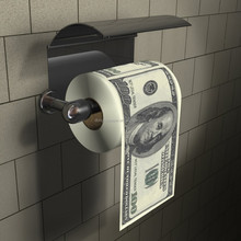 Dollar Toilet Roll - Dollar 100 Bill Toilet Paper Novelty Money Printned Toilet Tissue Paper