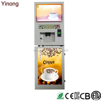 Yinong GTS104 4 hot and 4 iced drinks flavor coin operated milk tea fruit juice coffee drinks maker/vending machine /dispenser