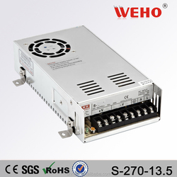 China Gold Supplier 270w 13.5v dc switching mode power supply electronic led driver 13.5volt smps
