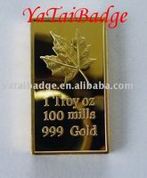 maple leaves bullion badge 1 troy oz 1 mills 999 gold