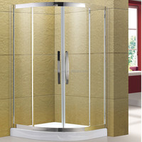 2016 Popular Transparent New Design Small Size Sector Shower Enclosure with Tray