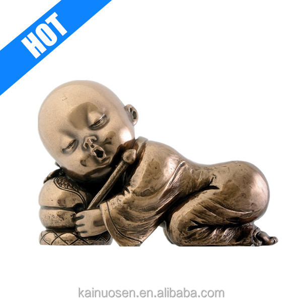 Monk Resting Baby Buddha Decoration Collectible