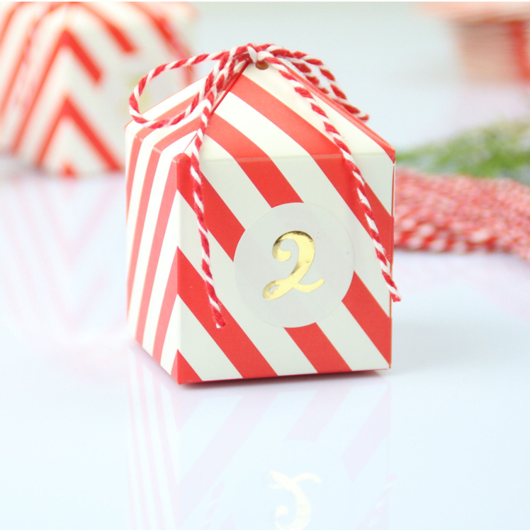 Stripe litte house sweet paper gift candy wedding favor box