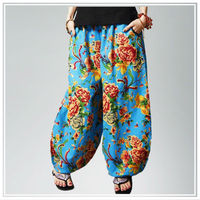 2013 new designs digital printing linen fabric for ladies trousers