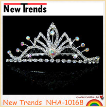Hot sale India wedding tiaras with glass stone