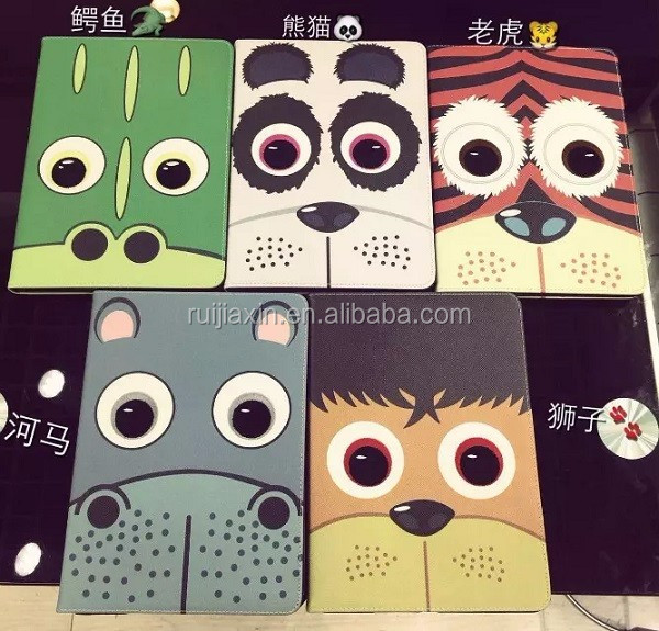 Custom Animal King Leather Case For Ipad /For Ipad Flip Leather Case