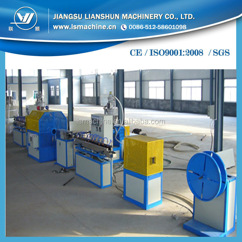 famous PVC soft hose pipe machine/PVC garden line products/pvc fibre reinforced hose making machines