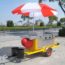Shanghai JX-HS230 Fruit Juice Hand Push Cart/Catering Hot Dog Food Trailer