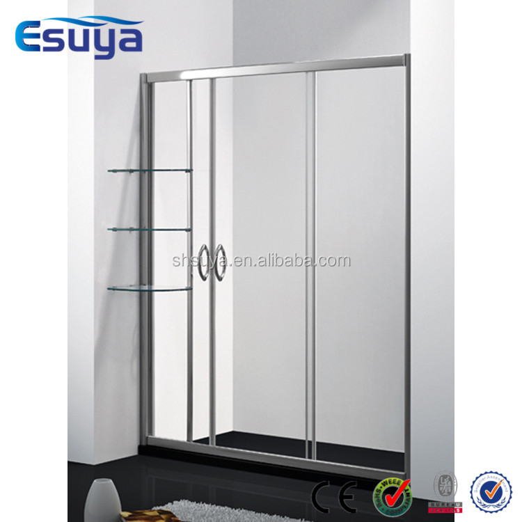 aluminium neo angle shower enclosure left and right style black frame shower room 6mm tempered glass shower room