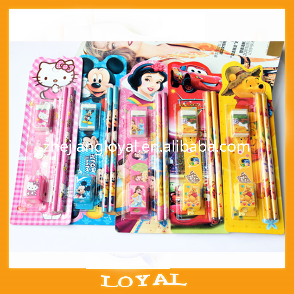 Direct deal Cartoon students cute stationery set,child gift