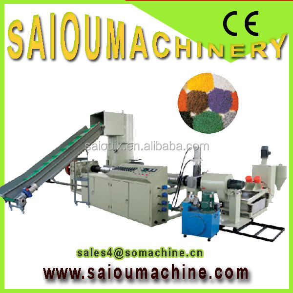 2012 hot machine from saiou pelletizing machine plastic recycle plant for pe film