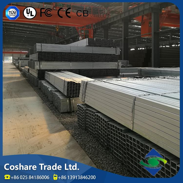 COSHARE- Passed ISO 9001 test wholesale price latest fashion erw carbon 40x40 weight ms price square pipe