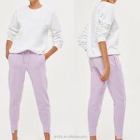 Good fashion women apparel wholesale polyester cotton blend step hem lady's trousers